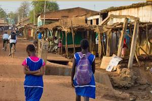 Village scene in Africa