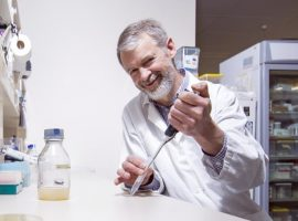 Professor Iain Lamont in the laboratory