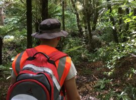 Adrian Cookson environmental sampling trip to Pukaha Mount Bruce