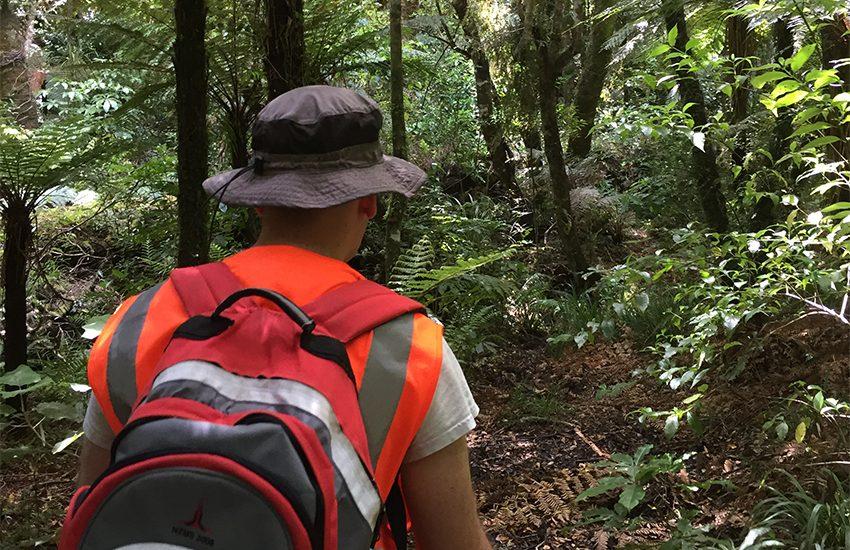 Adrian Cookson environmental sampling trip to Pukaha Mount Bruce